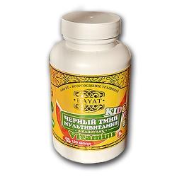 Масло черного тмина в капсулах Мультивитамин Kids 500 мг Hayat 190 капсул